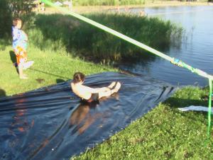 Rutsche 2012 in den See